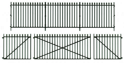 Peco LK-741 GWR Spear Fencing Straights & Gates